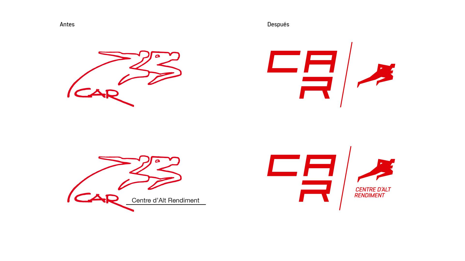 Comparativa. Diseño Identidad Corporativa CAR Sant Cugat