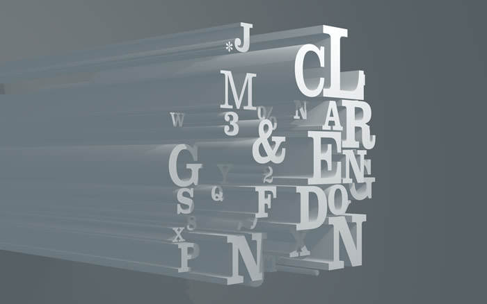 Typewall 3: Clarendon. Typographic screen wallpaper