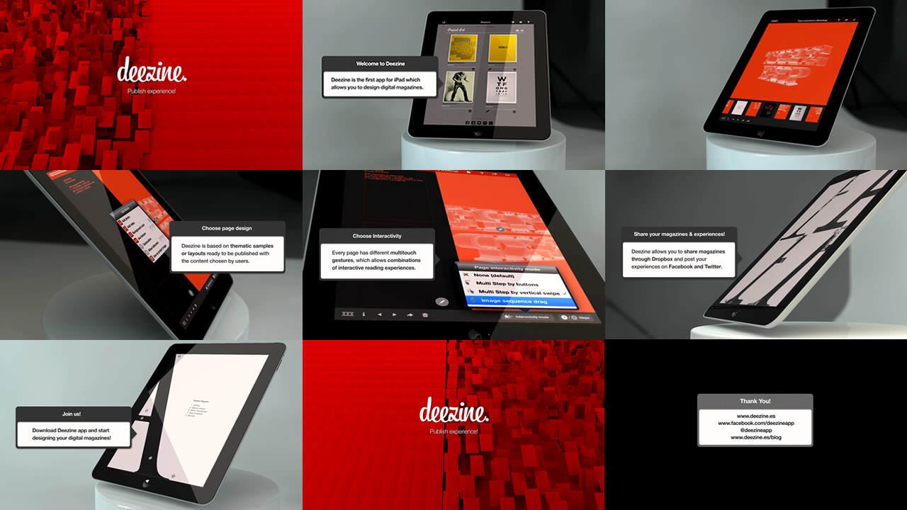 Deezine digital magazine app for iPad | app de diseño de revistas digitales para iPad