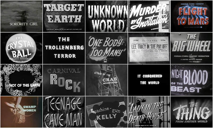 Títulos de películas de serie B de los años 40 y 50