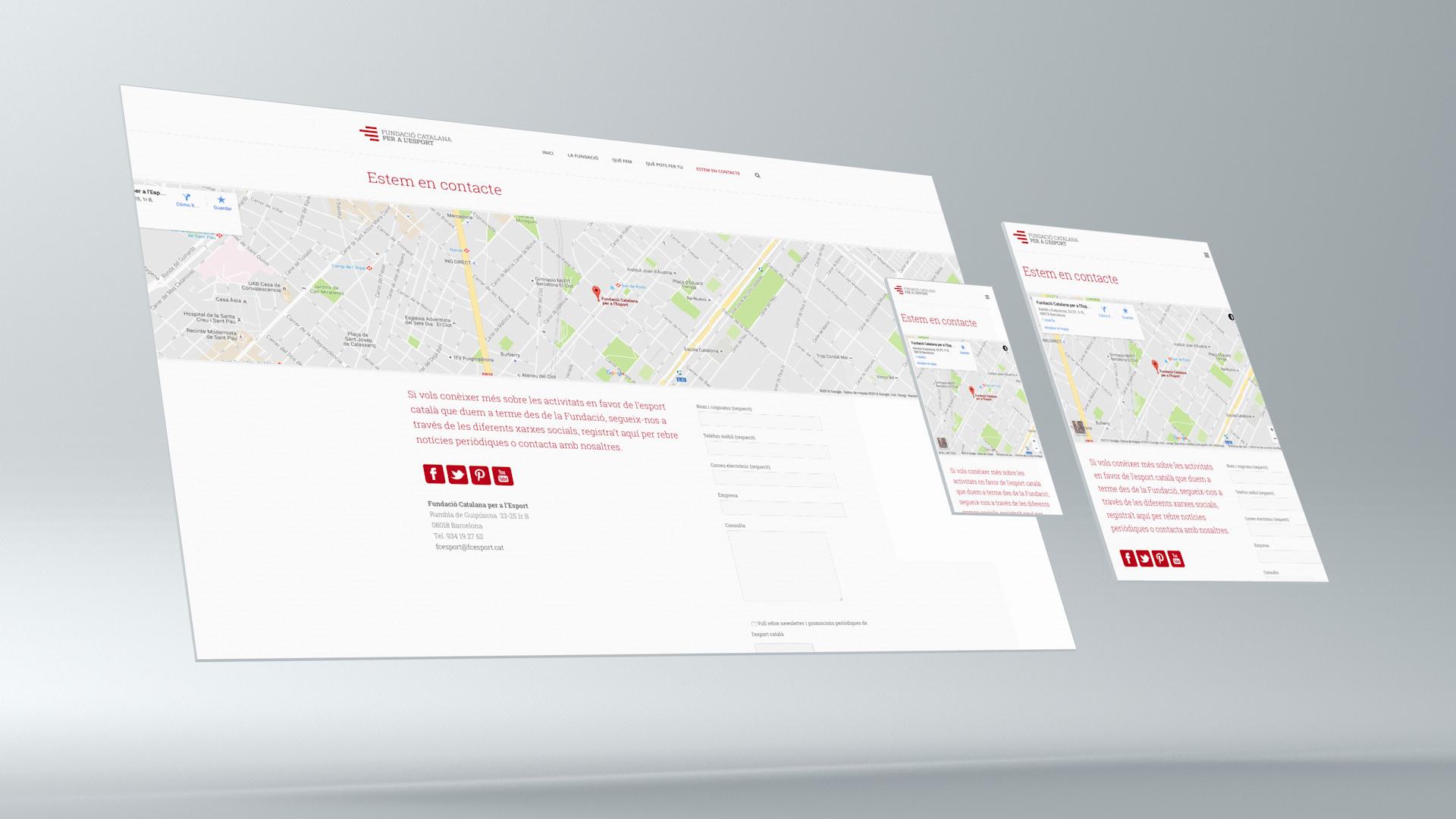 Diseño web Fundació Catalana per a l'Esport